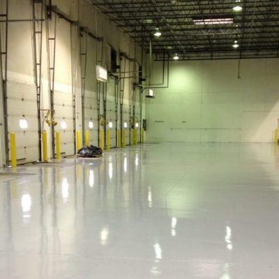 Industrial Concrete Floor Coating - Polyaspartic Polyurea floor coating light gray