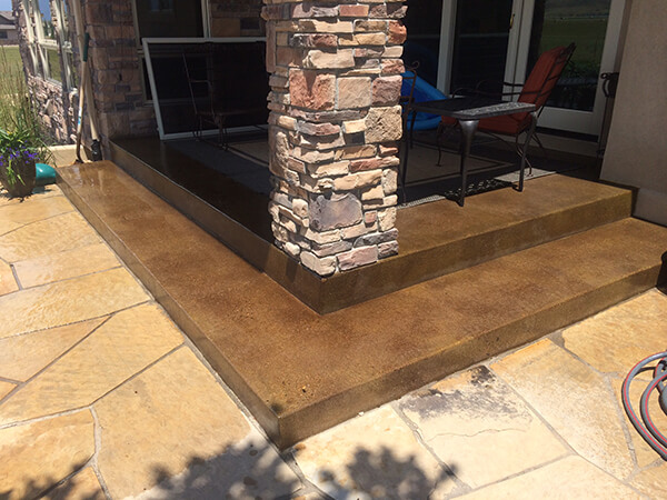 your patio with concrete staining
